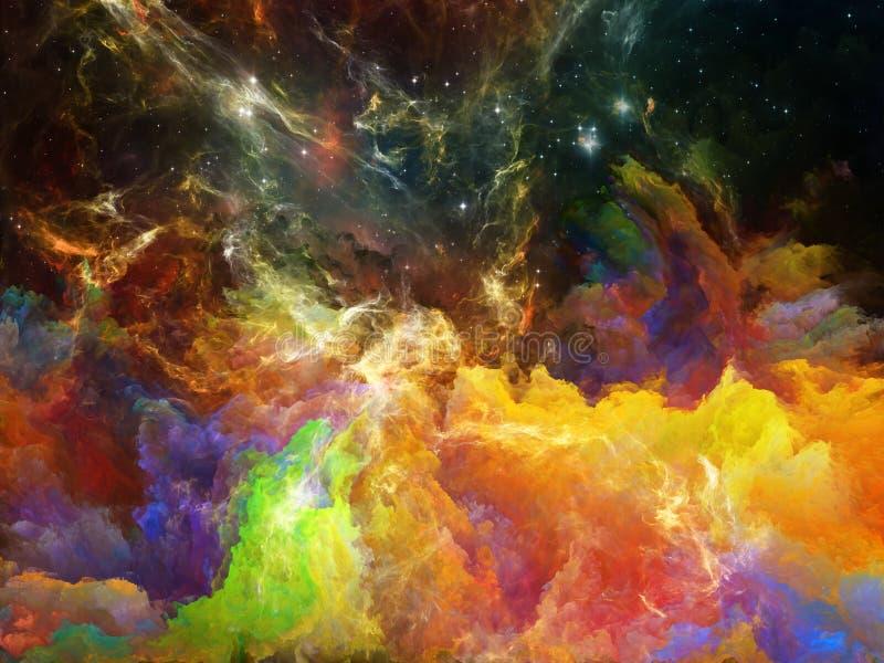 Nebulosa variopinta dello spazio illustrazione di stock