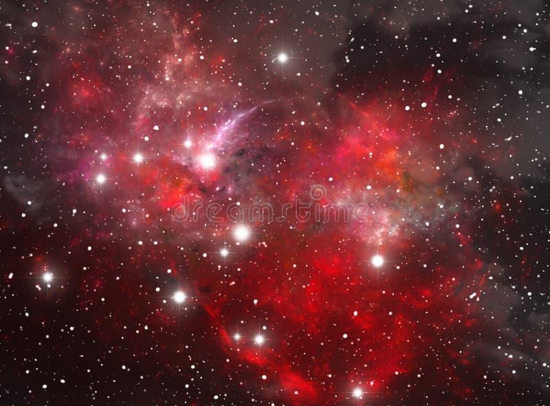 Nebulosa vermelha da estrela do espaço ilustração do vetor