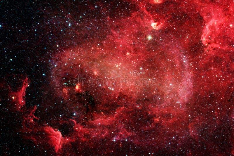 Nebulosa y galaxias en espacio Elementos de esta imagen equipados por la NASA foto de archivo