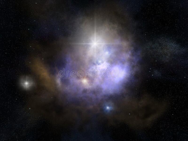 Nebulosabakgrund stock illustrationer