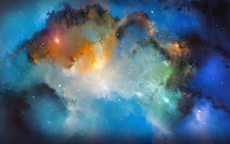 Nebulosafärger stock illustrationer