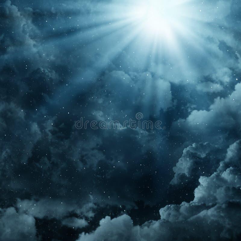 Nebulosor i himlen stock illustrationer