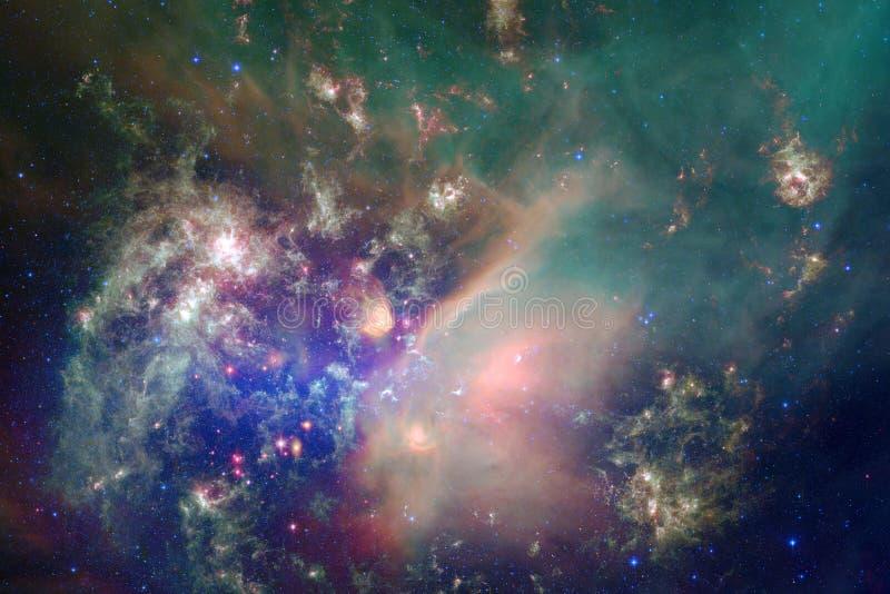 Nebulosor och många stjärnor i yttre rymd Beståndsdelar av denna avbildar möblerat av NASA royaltyfri foto