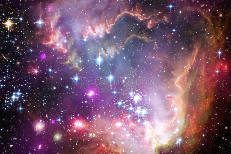Nebulosor och många stjärnor i yttre rymd Beståndsdelar av denna avbildar möblerat av NASA arkivbild