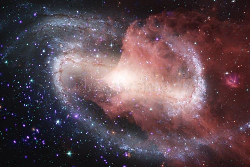 Nebulosor och många stjärnor i yttre rymd Beståndsdelar av denna avbildar möblerat av NASA vektor illustrationer