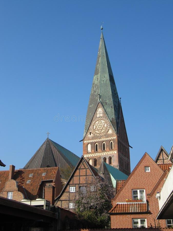 Neburg ¼ St Johanniskirche LÃ стоковое фото rf