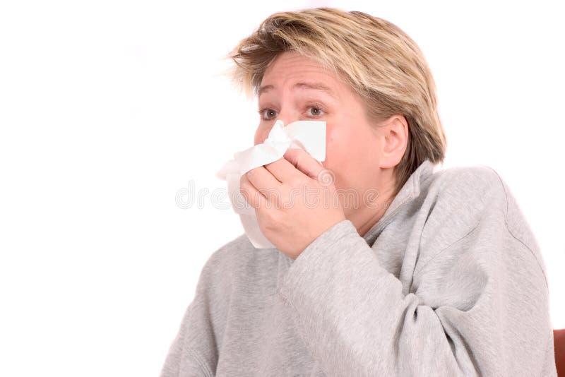 Necesidad de estornudar foto de archivo
