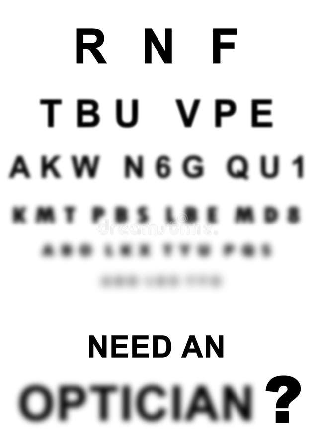 Necesite una muestra del óptico en el doctor libre illustration