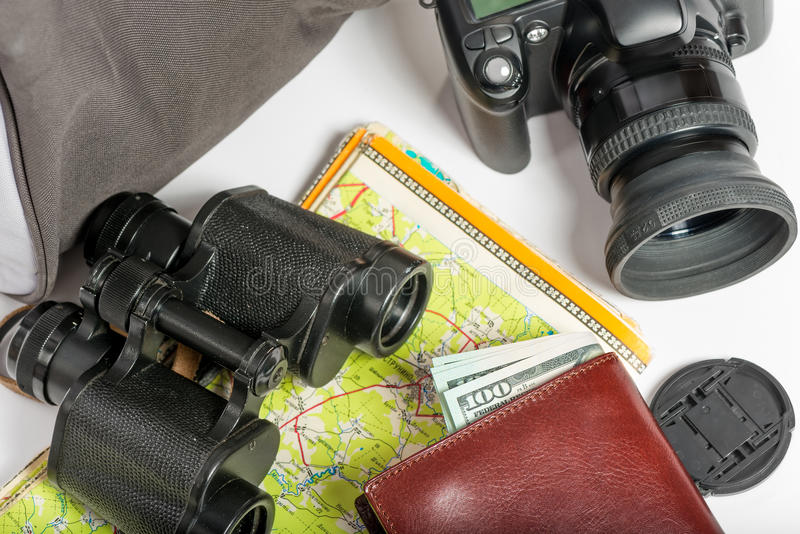 Necessary facilities for tourism at the weekend. Close-up stock images