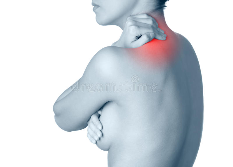 Download Neck Ache. Black-and-white, Monochrome Stock Photo - Image: 26181990