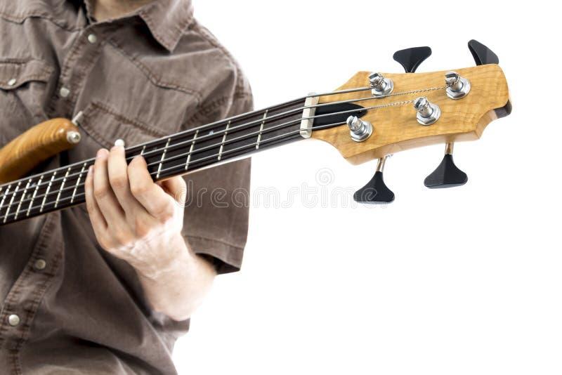 Neck of a bass guitar stock photography