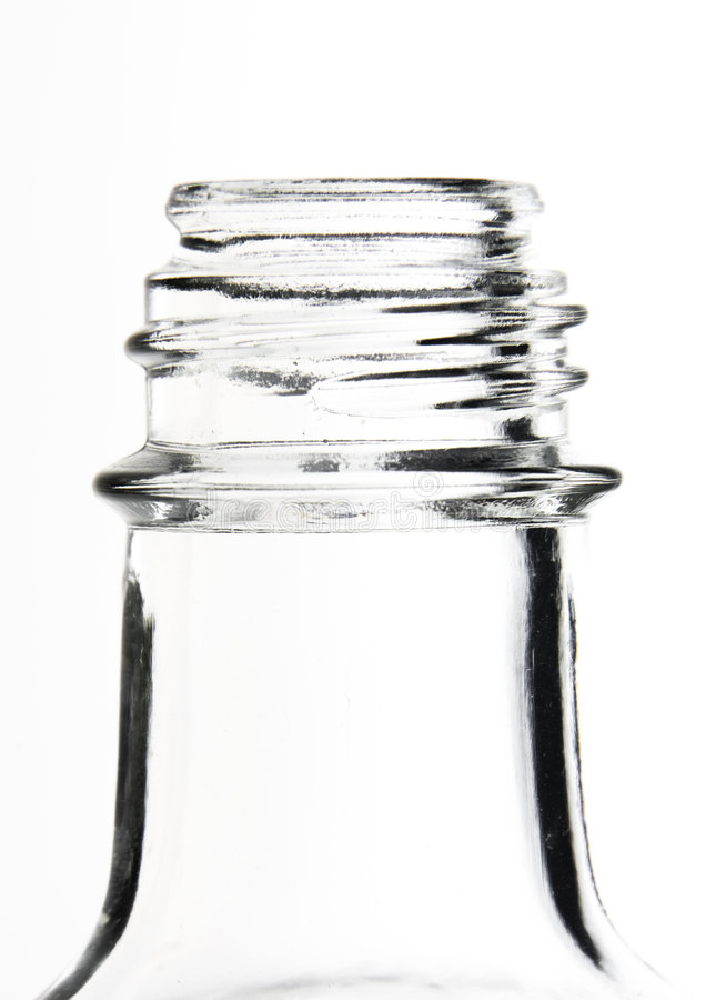 Neck of a bottle stock photo