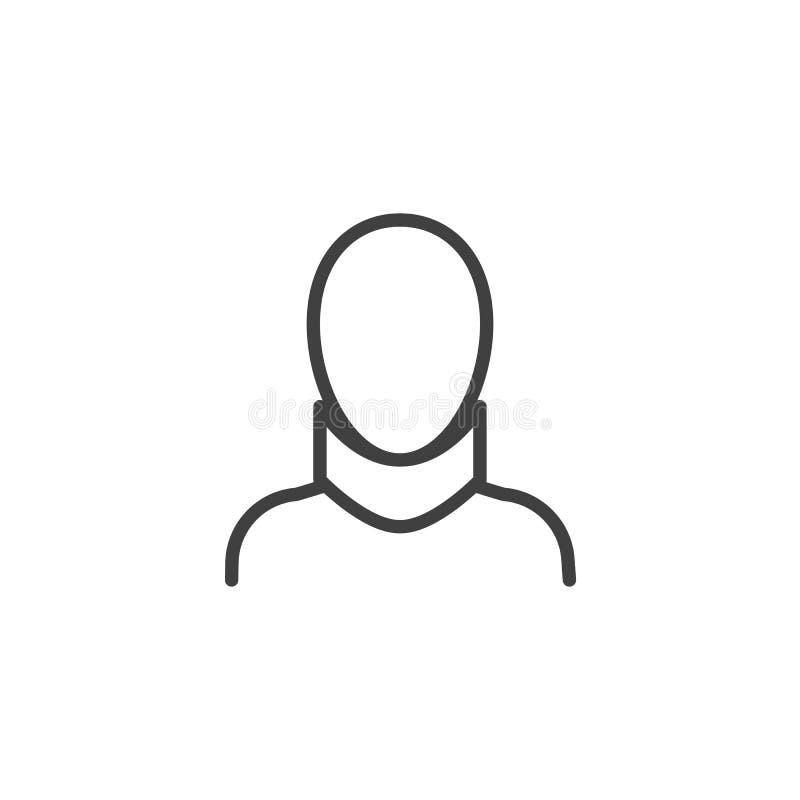 Neck brace line icon. Linear style sign for mobile concept and web design. Orthopedic neck brace outline vector icon. Symbol, logo illustration. Vector vector illustration