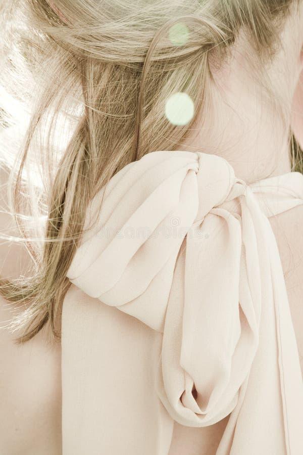 Neck & Hair. Ob a beautiful and sensual woman stock photo