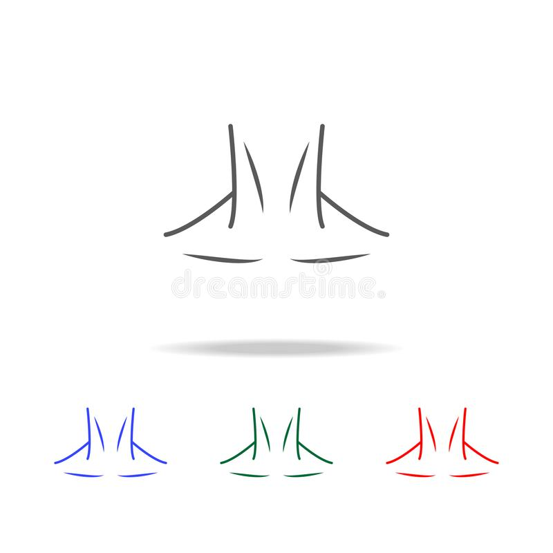Neck Icon Elements Of Human Body Parts Multi Colored Icons Premium