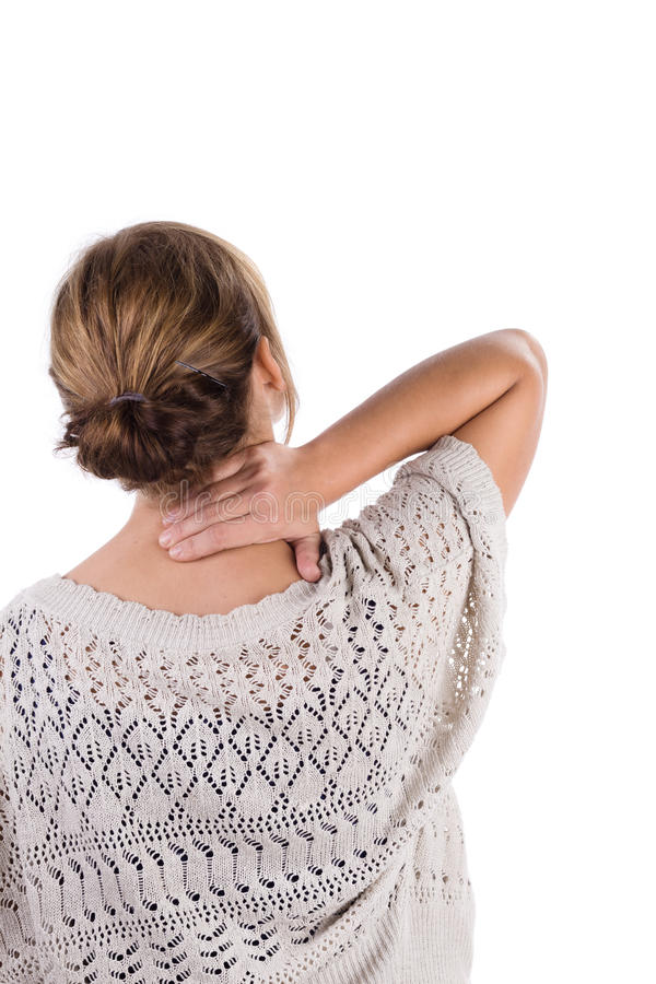 Download Neck pain stock photo. Image of white, neck, rear, adult - 16198342