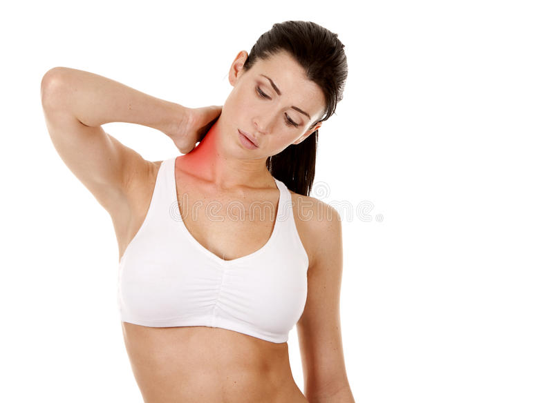 Download Neck pain stock photo. Image of girl, injured, medical - 29114872