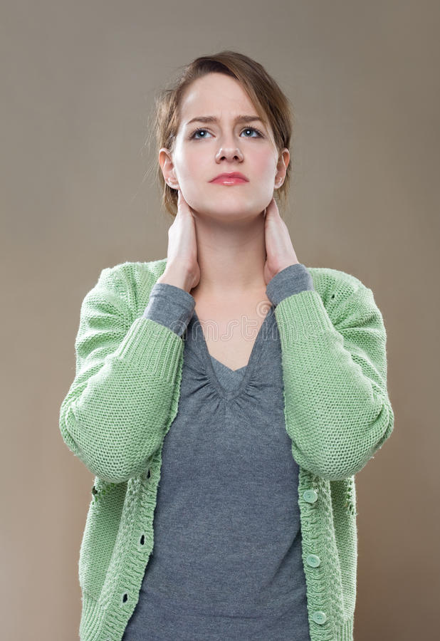 Download Neck pains. stock image. Image of chiropractic, portrait - 22671759