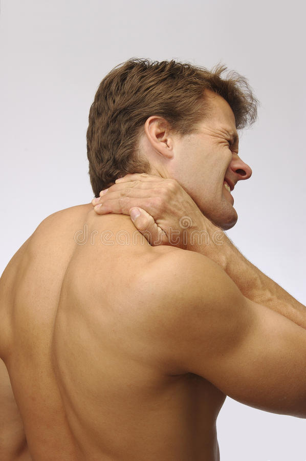 Neck strain injury stock image