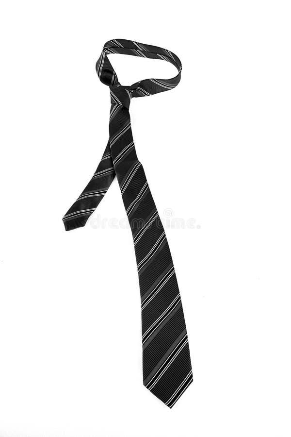 Neck tie over white