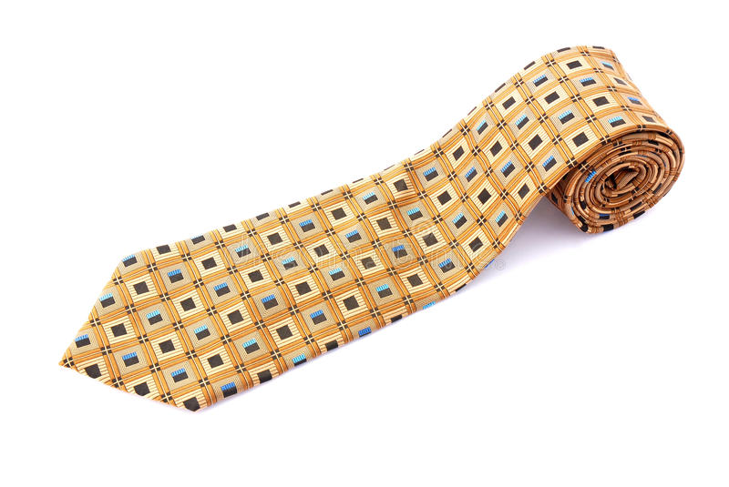 Download Neck tie rolled stock photo. Image of object, against - 13849302