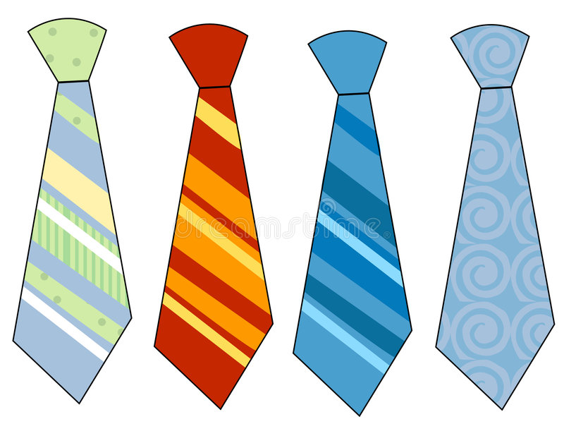 Neck ties. Collection of colorful neck ties