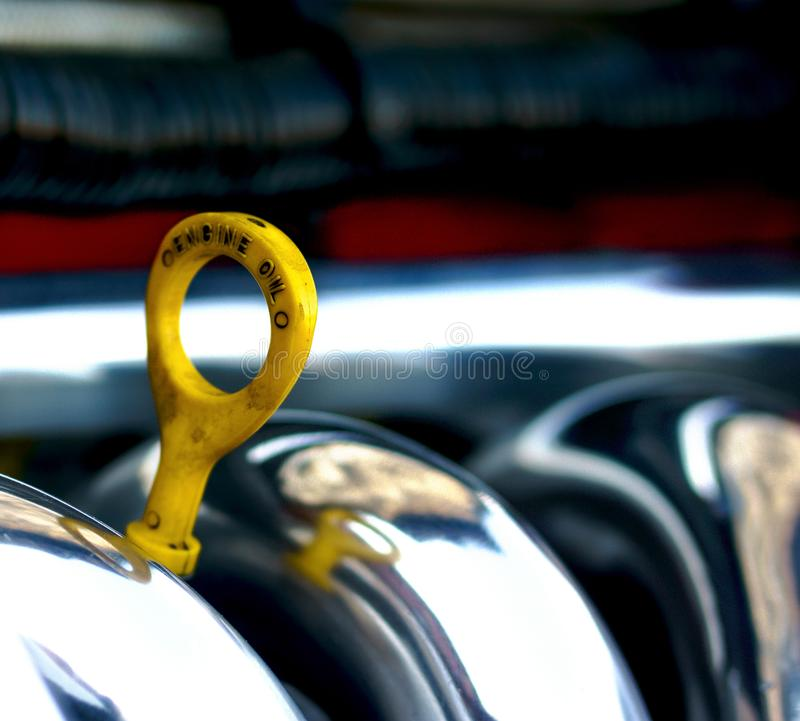 Check oil in the car, and that the engine will break. Check oil level in the car. Do not forget about it. For this purpose it is necessary to open cowl of the royalty free stock images