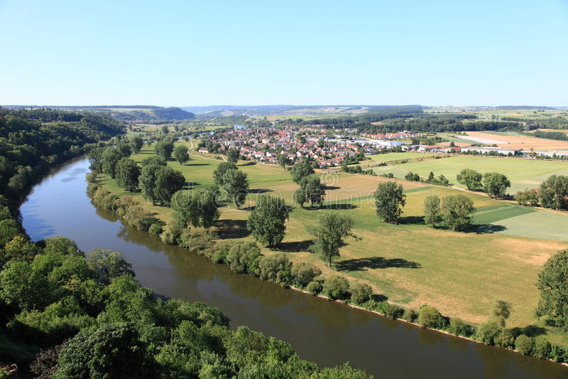 neckar πανοραμική όψη ποταμών στοκ εικόνες