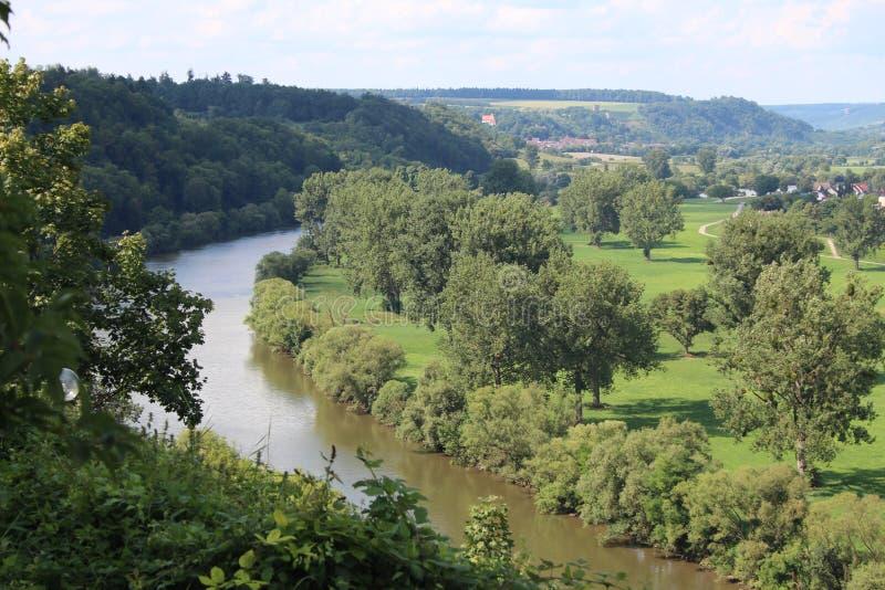 Neckar dolina, Niemcy fotografia stock