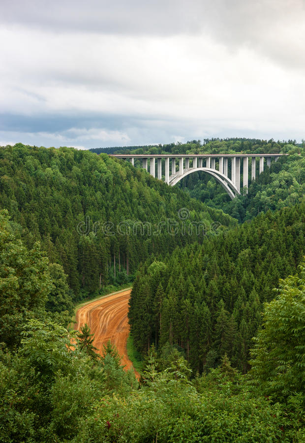 Neckarburg bro arkivbild