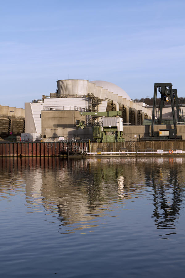Neckarwestheim nuclear power station stock photography
