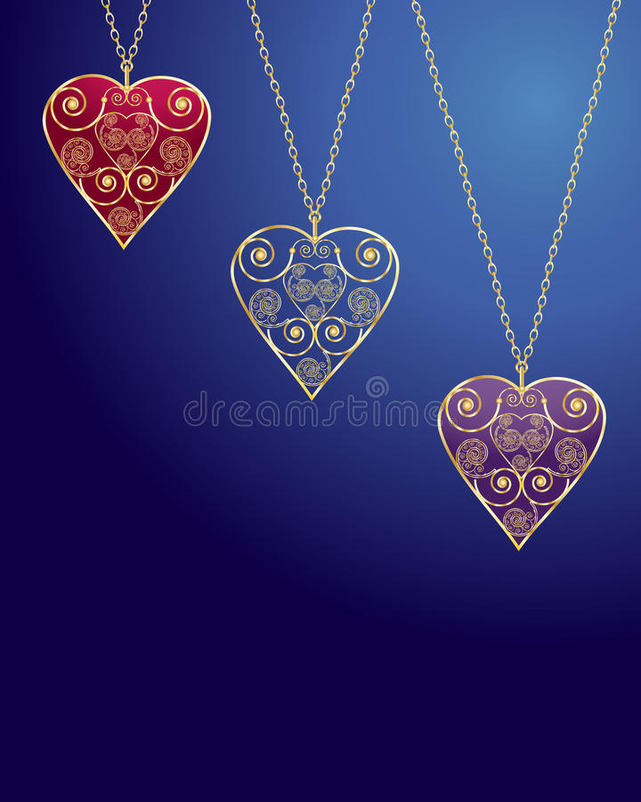 Download Necklace stock vector. Illustration of design, scrolls - 17041813