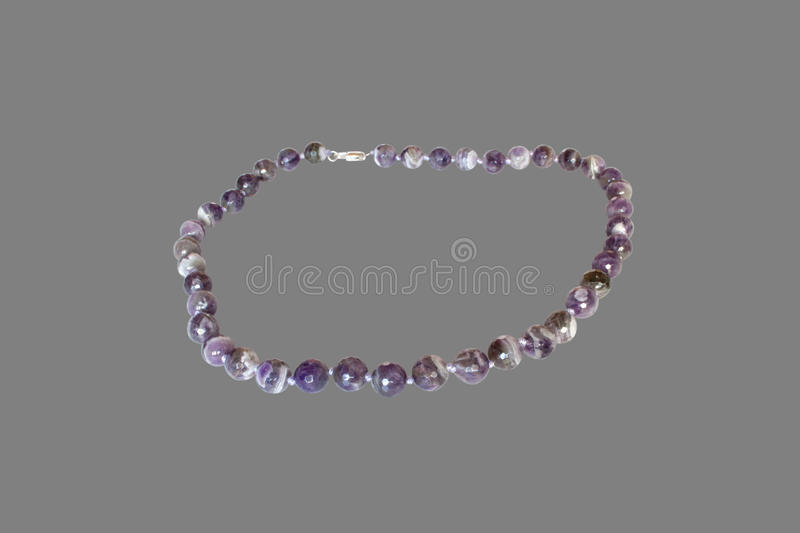 Necklace of amethyst royalty free stock image