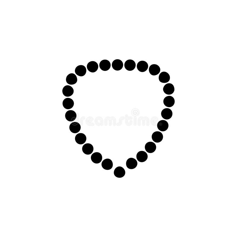 Necklace, beads icon. Simple glyph vector of universal set icons for UI and UX, website or mobile application. On white background royalty free illustration
