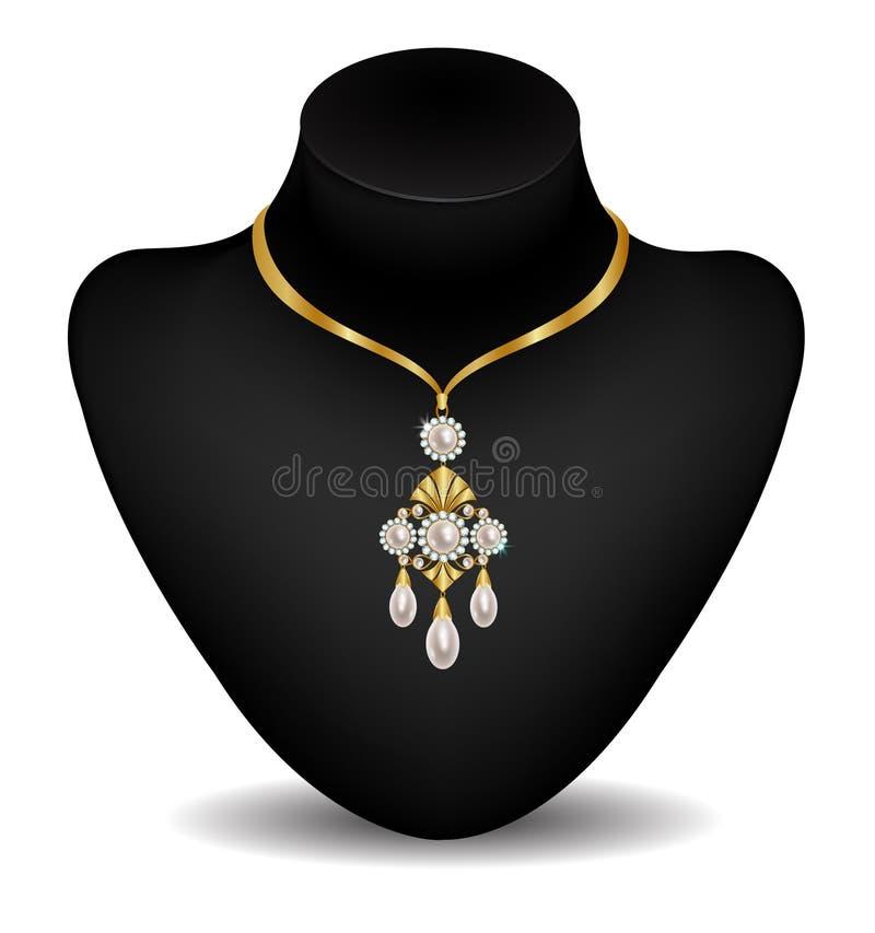 Necklace on a dummy royalty free illustration