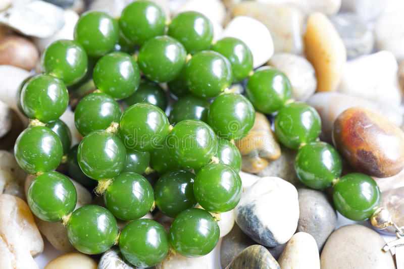 Necklace Green Agate royalty free stock photos