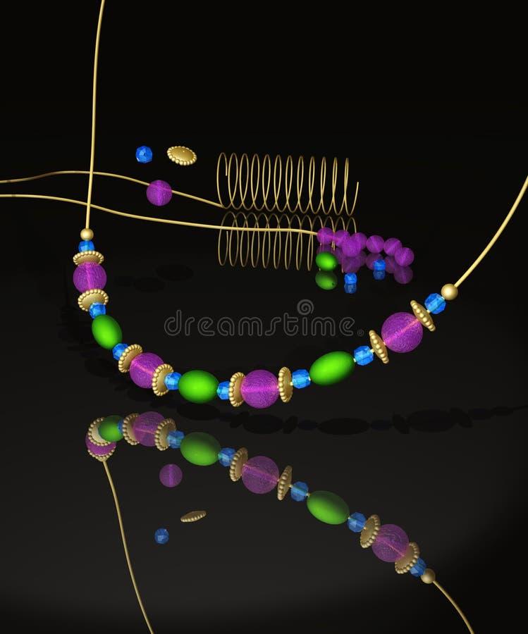 Necklace Handmade Stock Photo