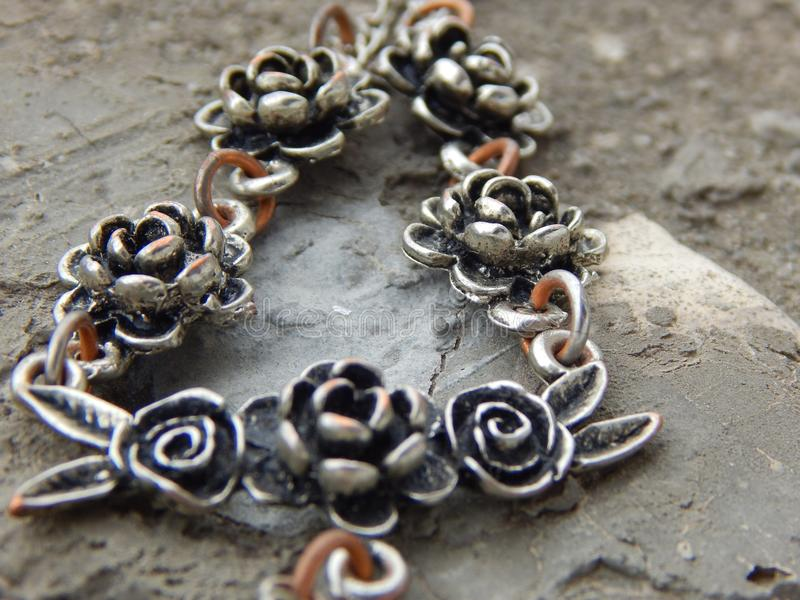Necklace with roses stock images