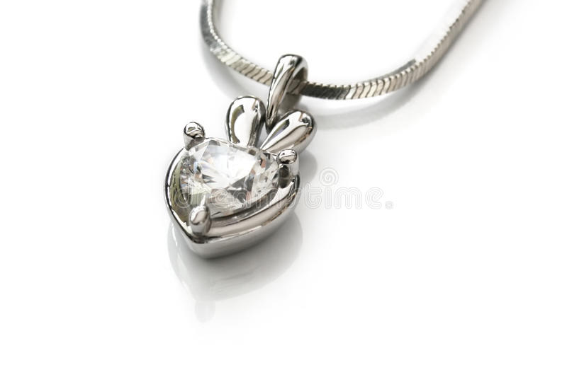 Download Necklace with pendant stock image. Image of love, pendant - 21504705