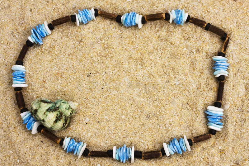 Necklace on Sand royalty free stock image