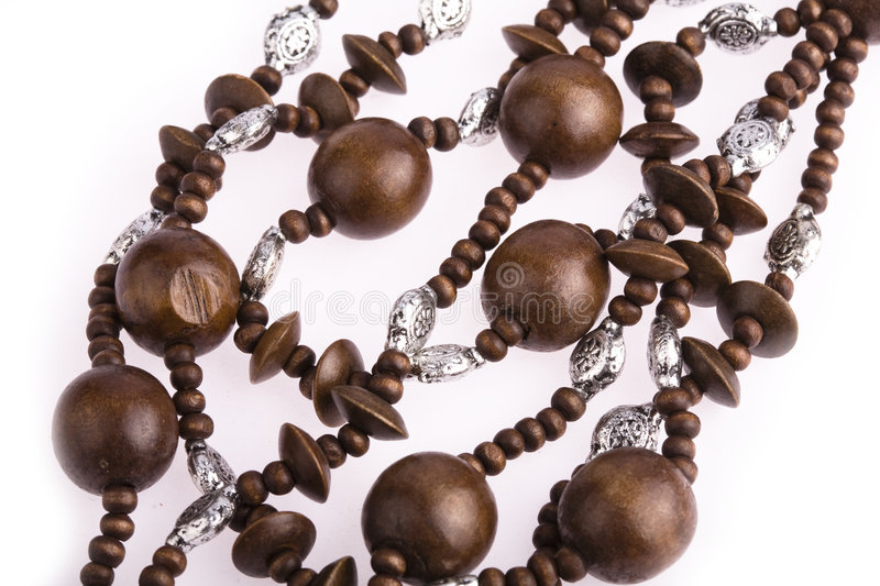 Necklace of wooden