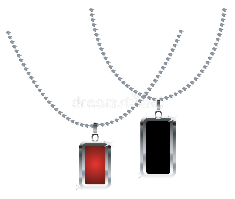 Necklaces royalty free illustration