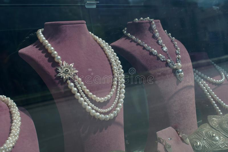 Necklaces on sale royalty free stock image