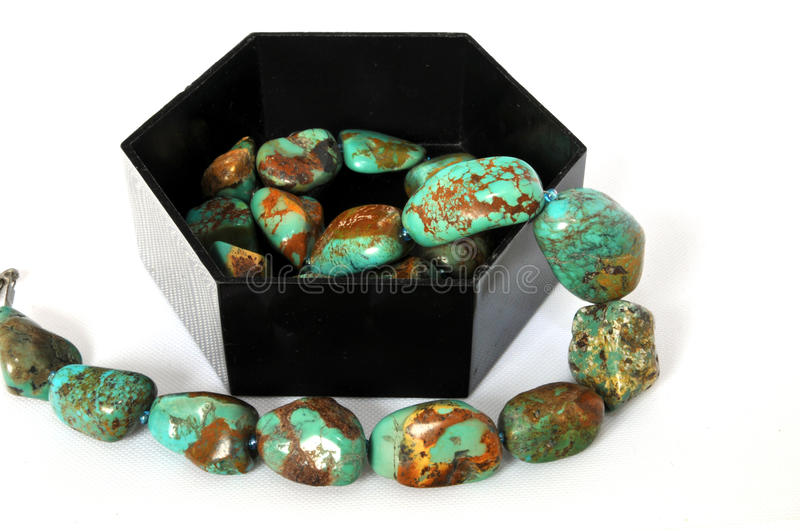 Download Necklase With Natural Turqoise Stones Stock Image - Image of necklace, turquoise: 10803181