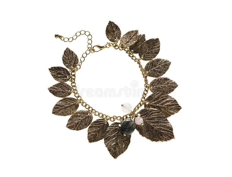 Download Neckless Leafs stock image. Image of handcraft, jewelry - 17523749