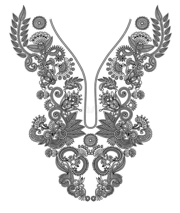 neckline способа вышивки иллюстрация штока