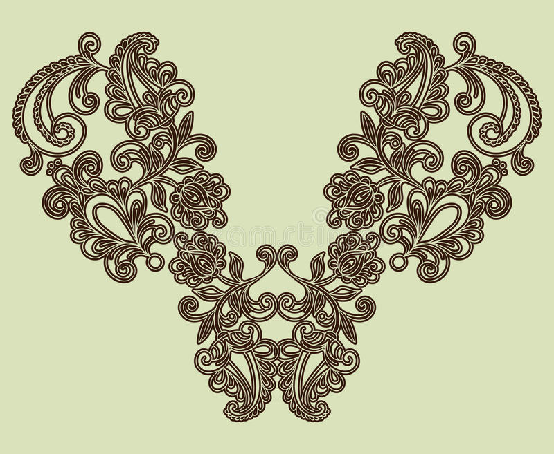 Download Neckline Embroidery Fashion Stock Vector - Image: 22248251