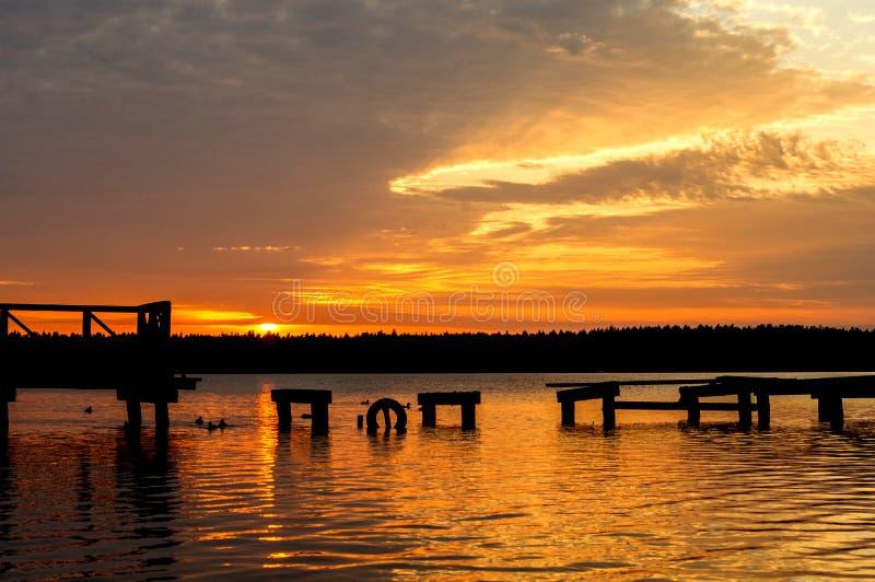Necko lake, Poland, Masuria, podlasie. stock photos