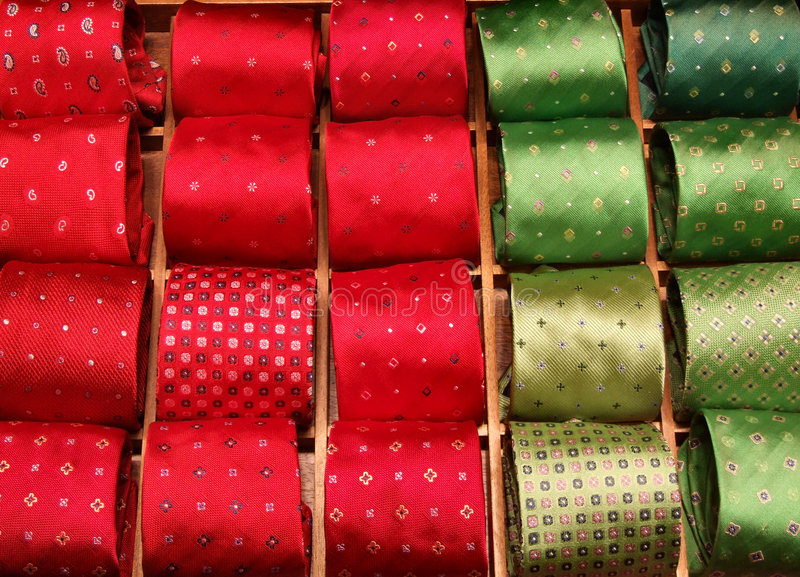 Necktie designer outlet shop royalty free stock photos