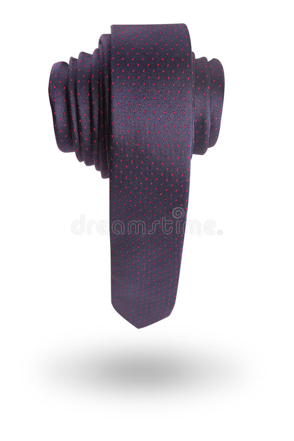 Necktie in the shape of a penis. On white background stock photography